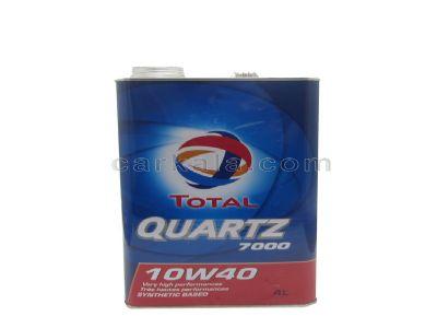 تصویر روغن موتور  10W40 توتال QUARTZ 7000 وارداتی حجم 4 لیتر